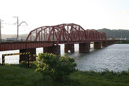 Nankai Kinokawa Bridge down line