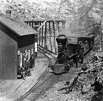 Colorado Central Railroad - Narrow Gauge Colorado Central Railroad in Clear Creek Canyon