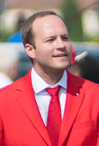 Nathaniel Erskine-Smith - Erskine-Smith at a Canada Day Parade in 2018