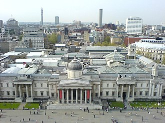William Wilkins (architect) - Image: National Gallery from atop Nelson's Column, Trafalgar Square, London geograph.org.uk 287253