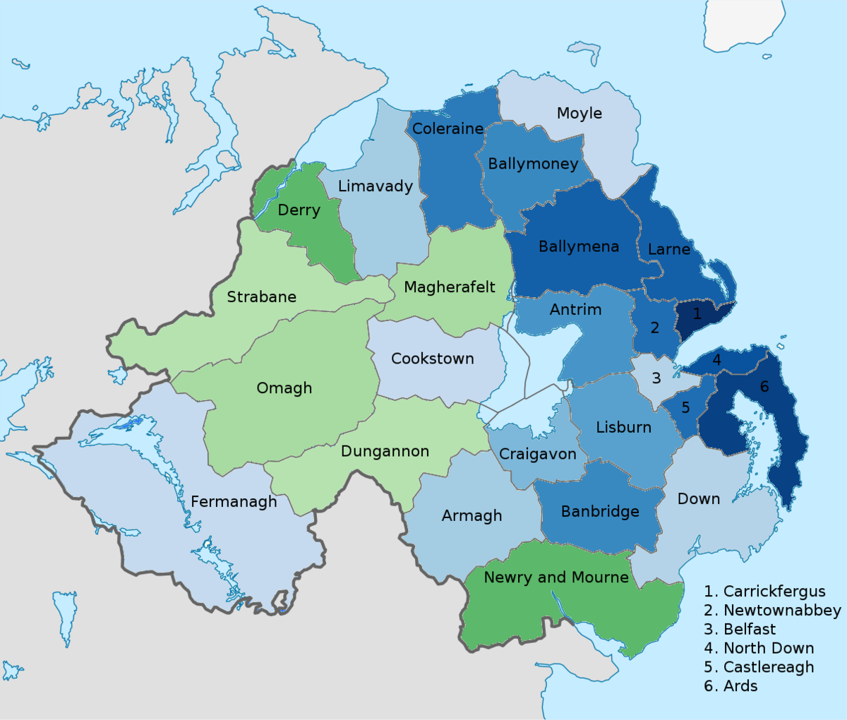 Image of: List Of Districts In Northern Ireland By National Identity Wikipedia