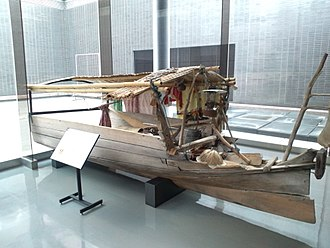 Lepa (ship) - Front half of a lepa from the National Museum of Ethnology, Osaka, Japan