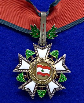 National Order of the Cedar commander badge (Lebanon 1970) - Tallinn Museum of Orders.jpg