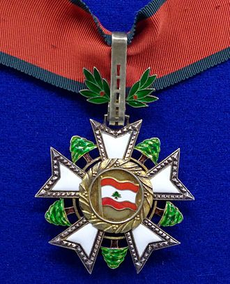 National Order of the Cedar - Commander's badge of the order.