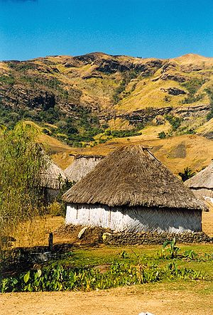 Viti Levu - The highland village of Navala.