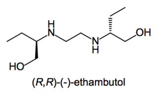 Enantiopure drug - Image: Negative enantiomer of ethambutol