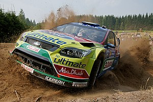 Shakedown (testing) - Jari-Matti Latvala, winner of the Neste Oil Rally Finland 2010, driving his car in Muurame shakedown