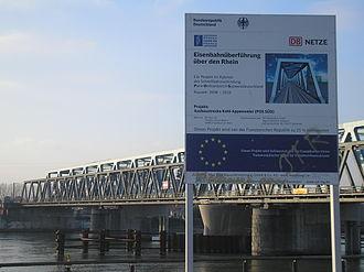 Rhine Bridge, Kehl - The new bridge shortly before it opened in 2010