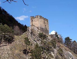 Untervaz - Image: Neuburg Lage