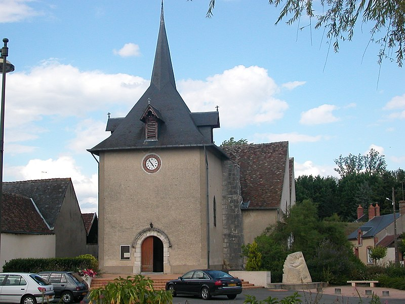 Church of Neuvy-sur-Barangeon (Cher, France).