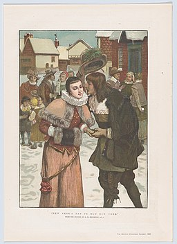 """New Year's Day in Old New York (from the Christmas Number of """"The Graphic"""") MET DP861778"""