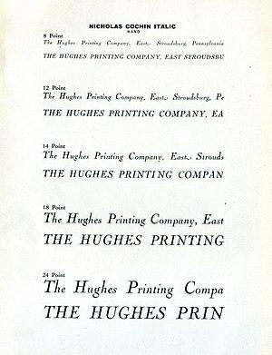 Cochin (typeface) - Image: Nicholas Cochin italic