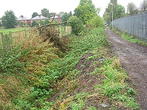 History of Manchester - Looking west along Nico Ditch, near Levenshulme