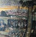 Nicolò dell'Abate, Incontro di Bruto e Ottaviano sulle sponde del fiume Lavino, particolare delle schiere di Ottaviano con la città di Bologna sullo sfondo.jpg