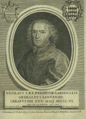 Girolamo Rossi - Portrait of Cardinal Nicola Grimaldi by Girolamo Rossi