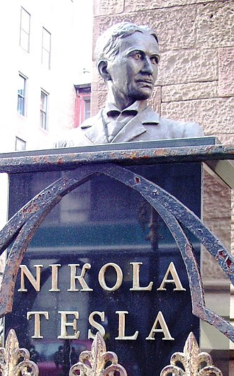 Trinity Chapel Complex - Bust of Nikola Tesla outside the cathedral