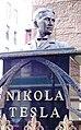 Nikola Tesla bust at St. Sava.jpg