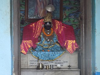 Nimbarka Sampradaya - Nimbarkacharya's holy icon within the Acharya sannidhi at the Ukhra Nimbarka Peeth Mahanta Asthal (West Bengal)