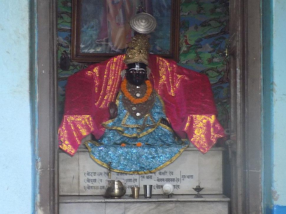Nimbarkacharya's holy icon at the Ukhra Nimbarka Peeth Mahanta Asthal(West Bengal)
