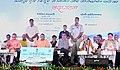 Nitin Gadkari at the inaugural function of newly constructed and restored Ghats along Ganga river, at Kanpur.JPG