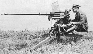 """Państwowa Fabryka Karabinów - Nkm wz.38 FK, the most advanced Polish autocannon (dubbed """"Heaviest Machine Gun"""") produced by Fabryka Karabinów"""