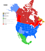 Territorial Evolution Of North America Since Wikipedia - 1890 map of us
