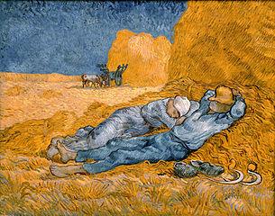 Vincent van Gogh: Mittagsruhe nach Millet Schlaf
