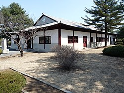 The North Korea Peace Museum which is the only remaining building in the village.