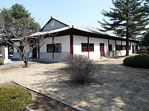 Panmunjom - The North Korea Peace Museum which is the only remaining building in the village.