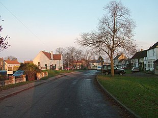 North Cowton looking towards the village green