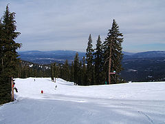 Looking southeast from the back of the summit of Northstar.