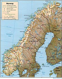 Outline Of Norway Wikipedia - Norway map wiki
