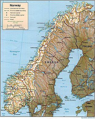 Geografia Della Norvegia Wikipedia