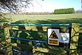 Not so reassuring sign - geograph.org.uk - 642894.jpg