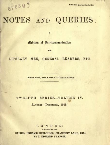 File:Notes and Queries - Series 12 - Volume 4.djvu