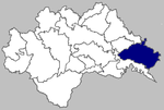 Map of Novska municipality within Sisak-Moslavina County