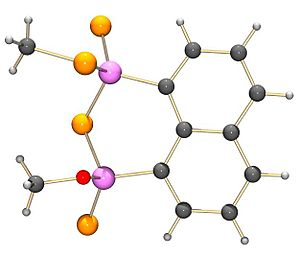 Naphthalen-1,8-diyl 1,3,2,4-dithiadiphosphetane 2,4-disulfide - The structure of the product of methanol and NpP2S4