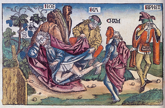 "Ham (son of Noah) - This picture from the Nuremberg Chronicle uses the spelling ""Cham""."