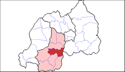 Shown within Southern Province and Rwanda