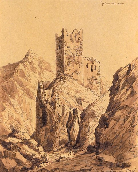 Château de la Roca d'Anyer (vers 1830)