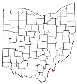 Location of Racine, Ohio