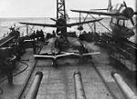 OS2U Kingfishers and TDD drones on USS Biloxi (CL-80) c1944.jpg