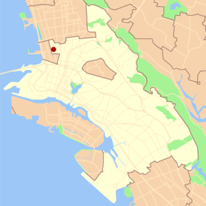 Golden Gate, Oakland, California - Image: Oakland golden gate locator map