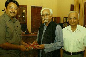 Obaidur Rahman Siddiqui - Obaidur-Rahman with Hamid Ansari