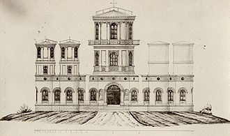 National Polytechnic School (Ecuador) - QUITO OBSERVATORY. Artistic conception of the observatory, according to Ludwig Dressel (1873).