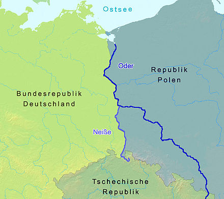 The Oder and Neisse rivers Oder-Neisse line between Germany and Poland.jpg