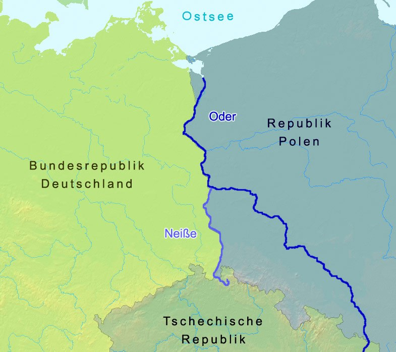 Oder-Neisse line between Germany and Poland
