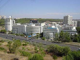 Oeiras, Portugal - The Arquiparque, one of the several business parks located in Oeiras