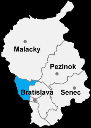 Bratislava 4 - Image: Okres bratislava IV
