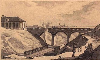 Vigerslev Allé - The site with the original Carlsberg Bridge painted by H.G.F. Holm in 1860 before Vigerslev Allé was established